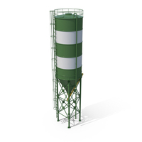 Cement Silo Green PNG & PSD Images