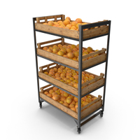 Retail Shelf With Grapefruits PNG & PSD Images