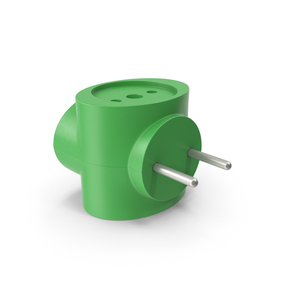 Electric Adapter Green PNG & PSD Images