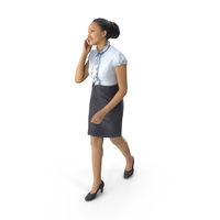 Woman Walking On Phone PNG & PSD Images