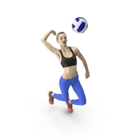 Woman Playing Volleyball PNG & PSD Images