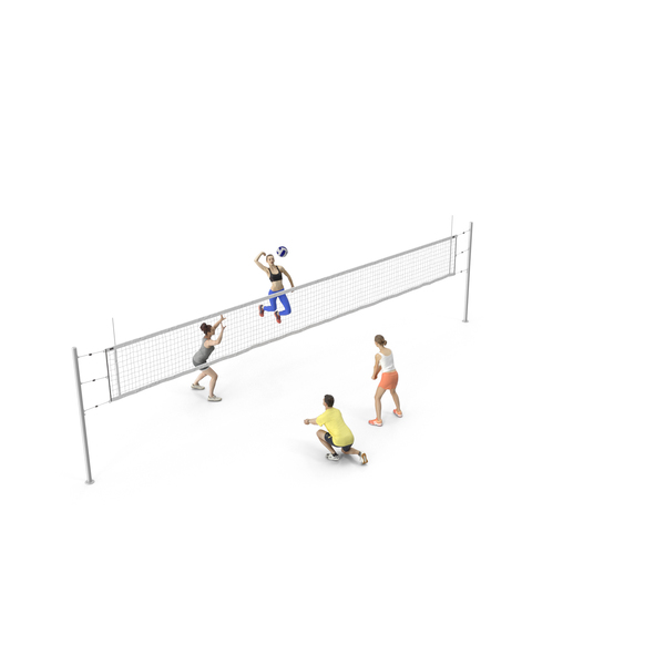 People Volleyball Players PNG & PSD Images