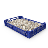 Tray With White Button Mushrooms PNG & PSD Images