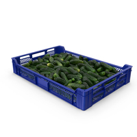 Postharvest Tray With Kirby Cucumbers PNG & PSD Images