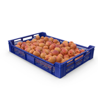 Plastic Tray With Apricots PNG & PSD Images