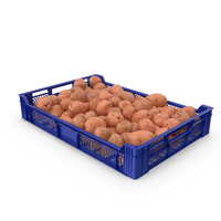 Plastic Tray With Red Potatoes PNG & PSD Images
