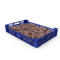 Plastic Tray With Purple Potatoes PNG & PSD Images