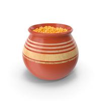 Ceramic Pot With Corn PNG & PSD Images