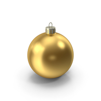 Gold Christmas Ornament PNG & PSD Images