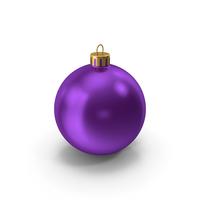 Purple Christmas Ornament PNG & PSD Images