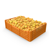 Plastic Crate of Apricots PNG & PSD Images