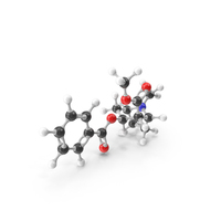 Cocaine Molecular Model PNG & PSD Images