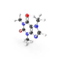 Caffeine Molecular Model PNG & PSD Images