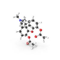 Heroin Molecular Model PNG & PSD Images