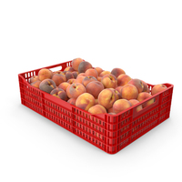 Peaches in plastic crate PNG & PSD Images