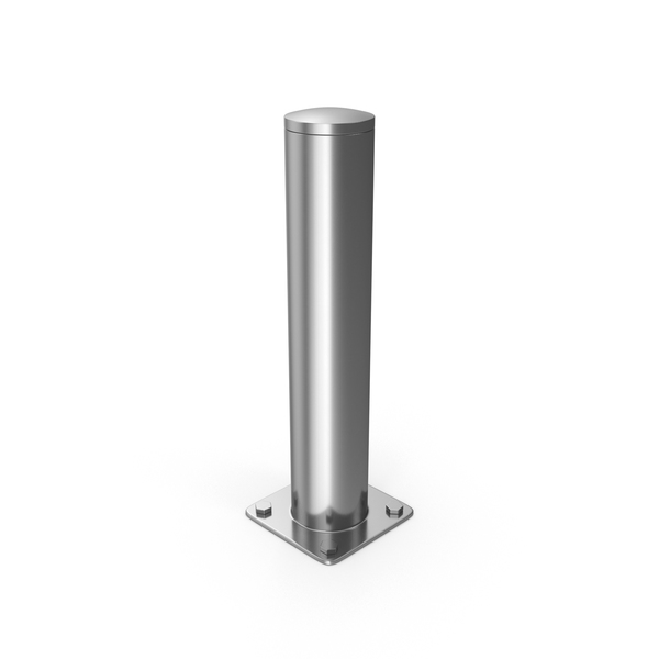 Chrome Safety Bollard PNG & PSD Images