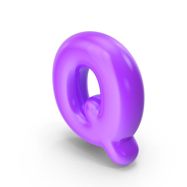 Purple Toon Balloon Letter Q PNG & PSD Images