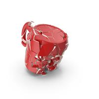Broken Mug Red PNG & PSD Images