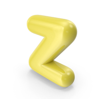 Yellow Toon Balloon Letter Z PNG & PSD Images