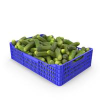 Cucumbers Gherkin in Plastic Crate PNG & PSD Images