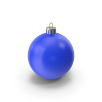 Christmas Ornament Blue PNG & PSD Images