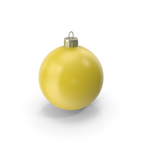 Christmas Ornament Yellow PNG & PSD Images