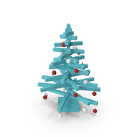 Stylized Christmas Tree PNG & PSD Images