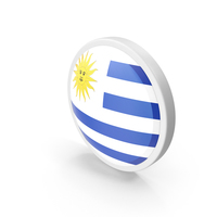 Uruguay Flag Button PNG & PSD Images