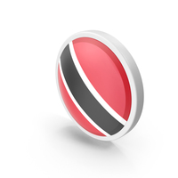 Trinidad and Tobago Flag Button PNG & PSD Images