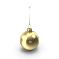 Christmas Ball Gold Glossy PNG & PSD Images