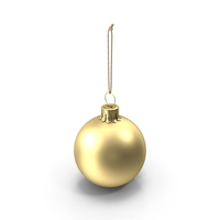 Christmas Ball Gold Matte PNG & PSD Images
