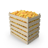 Apricots in Wooden Crates PNG & PSD Images