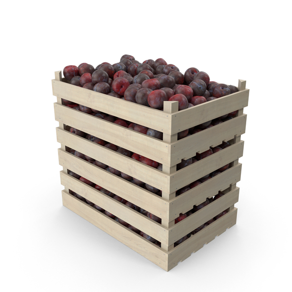 Crates of Plums PNG & PSD Images