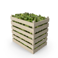 Crate of Gherkin Cucumbers PNG & PSD Images