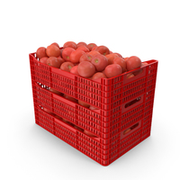 Plastic Crates of Tomatoes PNG & PSD Images