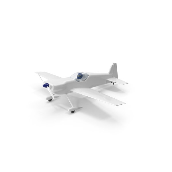 White Toy Sport Plane PNG & PSD Images