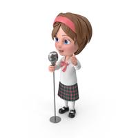 Cartoon Girl Meghan Singing PNG & PSD Images