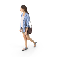 Casual Woman Walking PNG & PSD Images