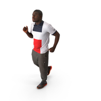 Spring Casual Man Running PNG & PSD Images