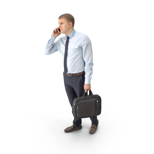 Business Man Talking on Phone PNG & PSD Images