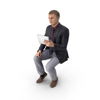 Business Man with Tablet PNG & PSD Images