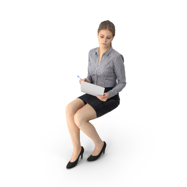 Business Woman Sitting PNG & PSD Images