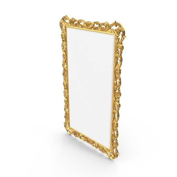 Baroque Carved Mirror PNG & PSD Images