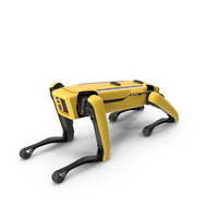 Lying Boston Dynamics Spot Robot Dog PNG & PSD Images