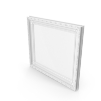 White Baroque Picture Frame PNG & PSD Images