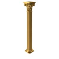 Golden Corinthian Greek Ancient Column PNG & PSD Images