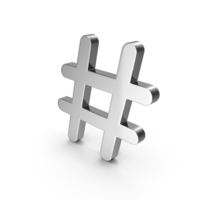 Hashtag Chrome PNG & PSD Images