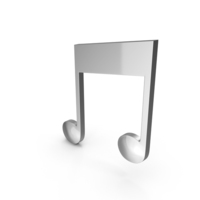 Chrome Musical Note PNG & PSD Images