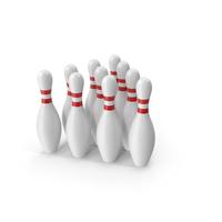 Bowling Pins Set PNG & PSD Images