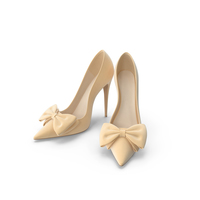 Womens Shoes Light Beige Suede PNG & PSD Images